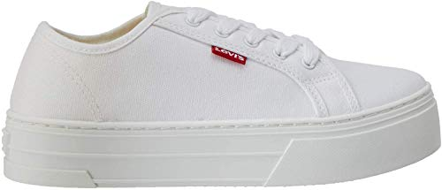 Levi's Tijuana, Zapatillas para Mujer, Blanco (B White 50), 38 EU