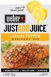 Weber Lemon Pepper Marinade Mix, 1.12 oz. Packets (4 Pack) Just add Juice!