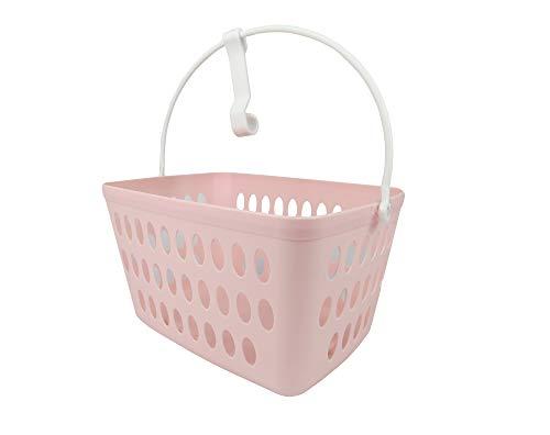 B&F Cesta para Pinzas/Cesto para Guardar Pinzas/Pinzas para Colgar Ropa/Cesto para Pinzas De Colada/Cubo para Pinzas De Colada(Rosa)