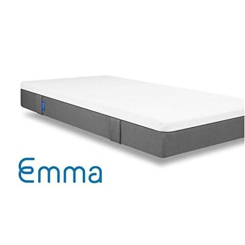 Emma Colchón 90x190 - Colchones visco de Espuma Cama Individual Memory Foam - Transpirable y máximo