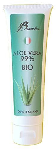 Braveter Aloe Vera Gel Succo Della Pianta Crema Per Capelli Hair Face Viso Gel Puro BIO Acne Secchezza Faccia Non Unge Naturale Doposole Rinfrescante
