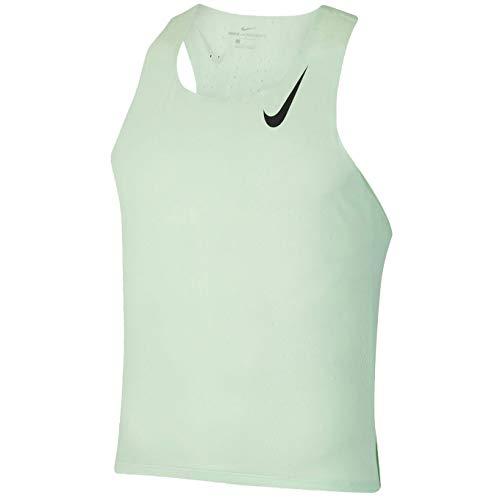 Nike Aeroswift Cj7835-376 - Camiseta de running para hombre - Verde - Medium
