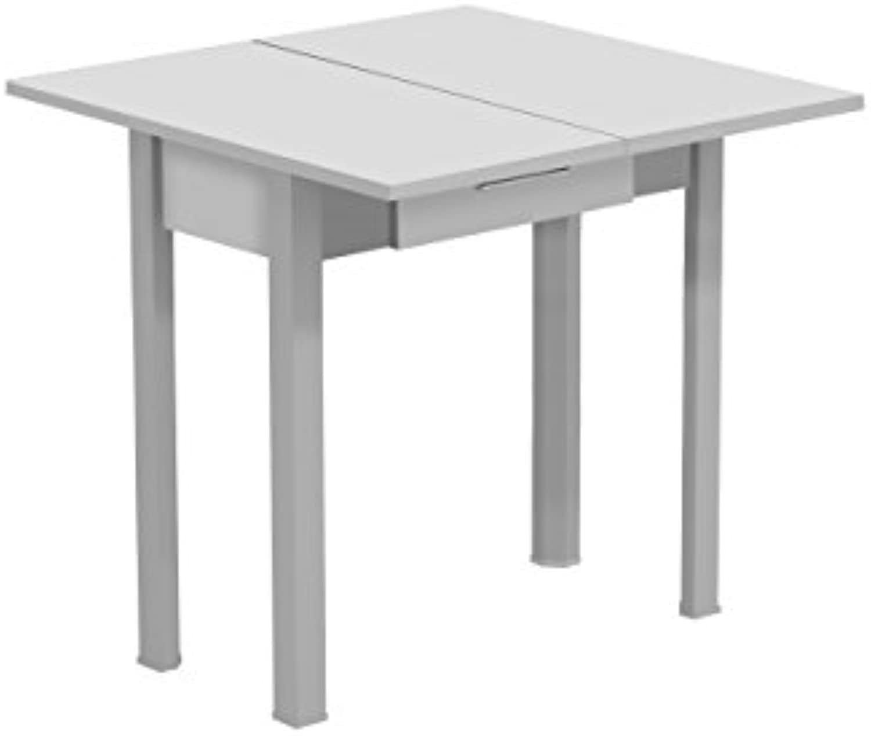 Tisch ausziehbar Caye Farbe  wei Silber