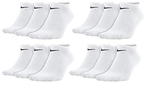 Nike Everyday Sneaker Socken 12 Paar Weiß Grau Schwarz Unisex Füßling SX7678, Farbe:Weiss, Socken Neu:38-42