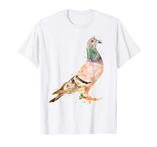 Taube Vogel Aquarell Geschenk Taubenzucht T-Shirt