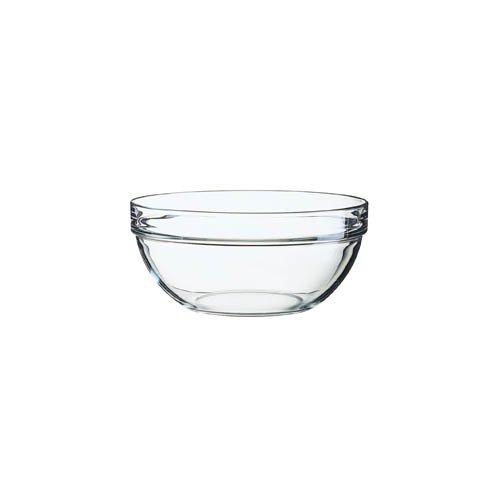 Arcoroc Stapelschale, transparent, H 7,8 cm, Ø 17 cm, 1 Stk. - Glasschale Salatschale Salatschüssel