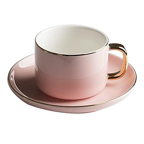 SXXYTCWL Cerámica de la taza de café con la taza de la cuchara y el platillo de la taza de agua de la taza de la leche de la taza de té de la tarde de la tarde de la taza de la oficina de la oficina d