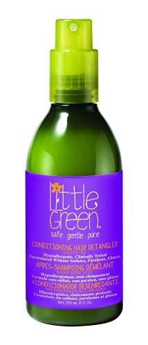 Little Green - Acondicionador desenredante para cabello húmedo o seco 240 ml para niños sin sulfatos, parabenos ni gluten | producto vegano sin aromas añadidos