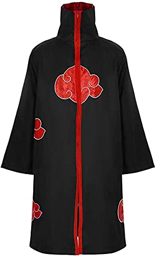 IUTOYYE Disfraz de Carnaval para Adulto Disfraz de Adulto Akatsuki Ninja para Halloween Carnaval Navidad Disfraz de Fiesta o guila Negro (XL (Tamao Fabricante: XXL))