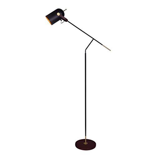 N/A Lámpara de pie de la personalidad nórdica, de piel forjada, de hierro forjado, para dormitorio o mesita de noche