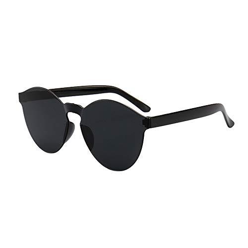 Storerine Damen Herrenmode Klar Retro Sonnenbrille Frameless Eyewear Brille Jelly-Sonnenbrille Candy Sunglasses Integrated Oceanic Sunglasses