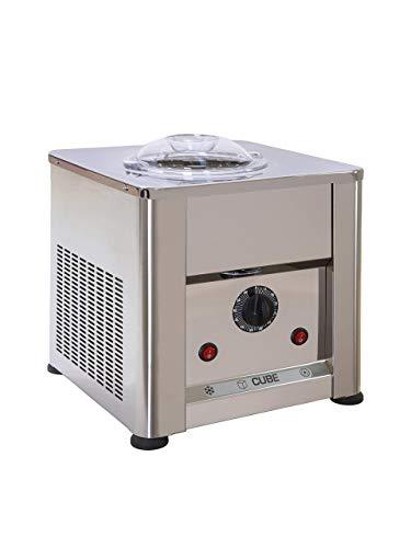 Eismaschine Cube 750 AISI 304 und 316 Edelstahl - Made in Italien Eiscreme und Sorbets 0,750 kg in 25 ' Mit Seitenschaber Spatel Professionelle