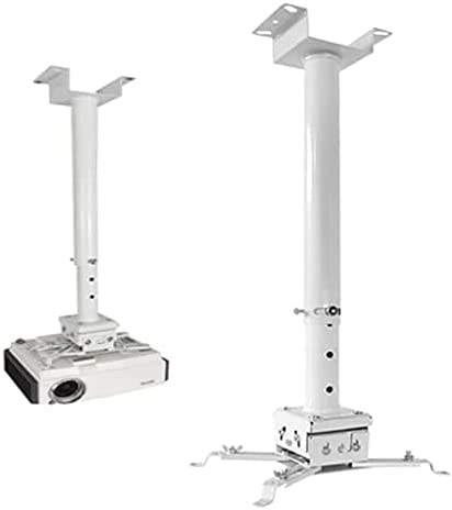 """Upgraded Strong Universal Extending Drop Ceiling Projector Mount 31-59"""" White Height Adjustable Projection Mount Projector Mount Mounting Bracket for Almost All Projectors"""