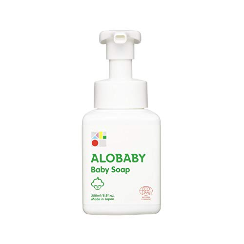アロベビーベビーソープ250ml泡シャンプーボディソープ無添加オーガニック赤ちゃんせっけん全身
