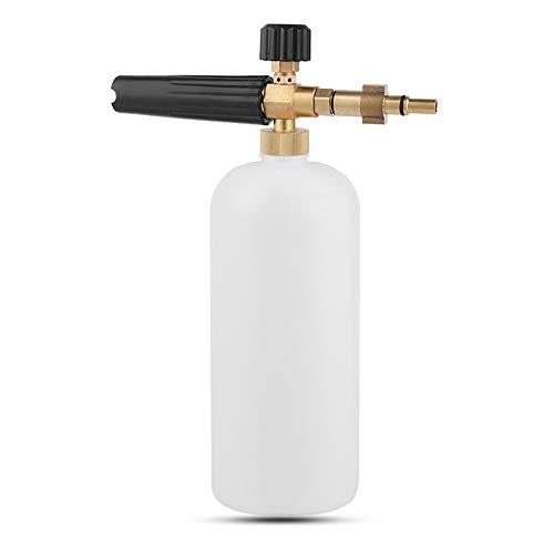 Schneeschaum Lanze schaumkanone Auto Wash Schaumlanze mit Verstellbarer Schaumstoff Düse, 1L Seifenspender Flasche und Faden Adapter für Hochdruckreiniger von Bosch Neuer Typ
