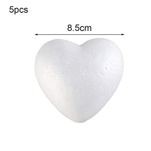 Miner hart schuim schimmel witte ambachtelijke ballen piepschuim modellering polystyreen bruiloft decor diy bal speelgoed partij decoratie, 8.5cm-5pcs