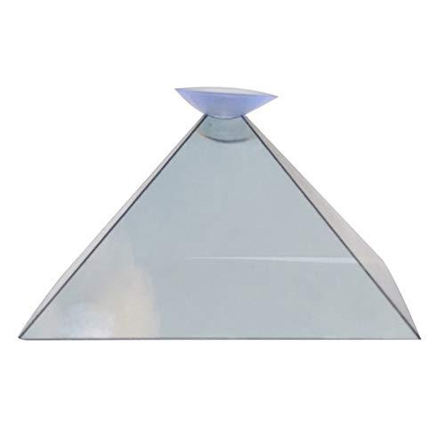 Mini piramide 3D per proiezione olografica, con ventosa, per qualsiasi smartphone o tablet (come mostrato nelle immagini)