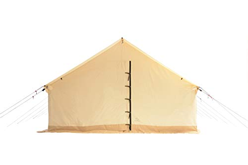 Outdoor Waterproof Canvas Wall Tent w/Heavy Duty Aluminum Frame, Angle Kits & PVC Floor Best Tents...