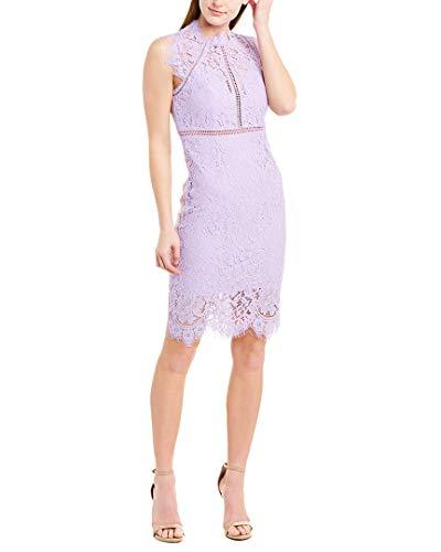 Bardot Lace Panel Dress Light Purple MD