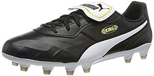 PUMA King Top FG Men's Soccer Boots, Puma Black-puma White, 8.5 US by PUMA
