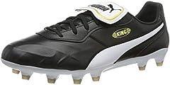 PUMA King Top FG, Zapatillas de Fútbol Unisex Adulto, Negro Black White, 36 EU