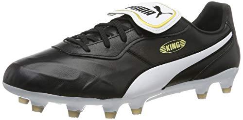 PUMA Unisex King Top FG Botas de fútbol, Black White, 43 EU