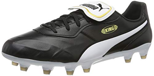 PUMA King Top FG, Botas de fútbol Unisex Adulto, Black White, 41 EU