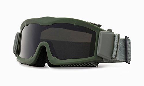 Kit de gafas de tres lentes intercambiables tácticas, para seguridad y con flujo de aire, OD verde