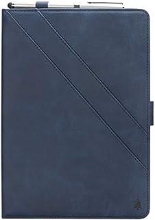 MeetJP Samsung Galaxy Tab A 10.5 T595 T590 財布 カード ホルダー 携帯電話ケース 閉まる フォリオ PU レザー カバー ?と 閉まる シェル の Samsung Galaxy Tab A 10.5 T595 T590 - Dark Blue