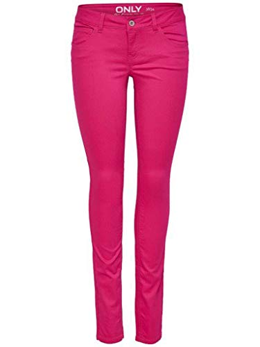 ONLY 15130077 onlLUCIA SL Skinny Push UP Pant PNT,Pink Peacock, Gr. 38/32