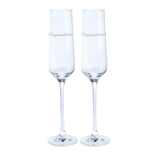 Dartington Cristal Just For You Félicitations Champagne Flute 0.19L (Paire)