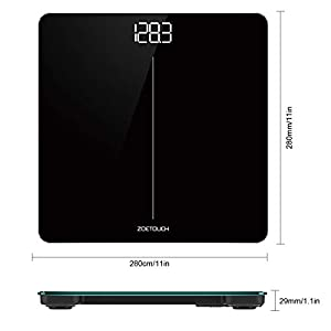 ZOETOUCH Digital Body Weight Bathroom Scale, Weighing Scale with Body Tape Measure and 6 Batteries, 400 Pounds