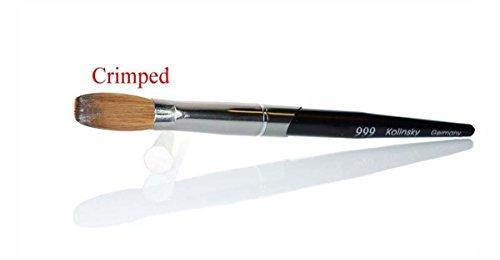 999 Titanium Handle - Kolinsky Acrylic Nail Brush For Manicure PowderCRIMPED - (Size #22)