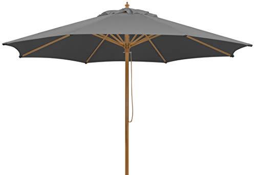 Schneider-Schirme Schneider Malaga, anthrazit, ca. 300 cm, 8-teilig, rund Sonnenschirm