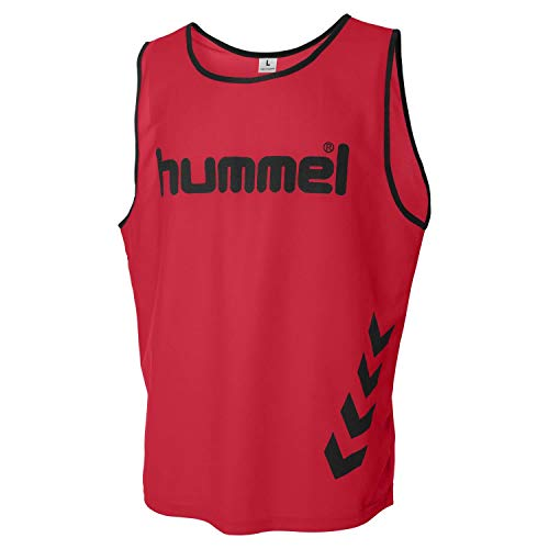 Hummel Kinder Trainingsleibchen Fundamental Training Bib 105002 True Red/White One Size