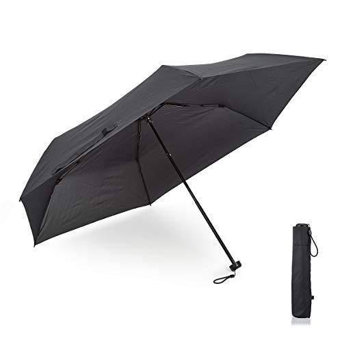 小宮商店 超軽量カーボン 折りたたみ傘 メンズ 大きい 軽い コンパクト 超撥水 テフロン 楽々開閉 60cm(黒)