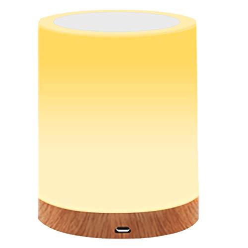 MIAROZ Lámpara de Mesa, Regulable Lámpara de Noche de Atmósfera con Sensor de Tacto, Lámpara de Tabla de Decoración con Modo RGB y Luz Blanca Caliente, 256 Luces de Color