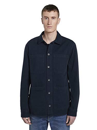TOM TAILOR Denim Herren Denim Shirt Jeansjacke, 10668-Sky Captain Blue, XL