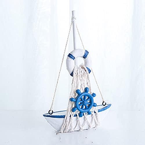 Figurine Albero Fata Marine Nautica Creativa Modalità Barca A Vela Decorazione Della Stanza...