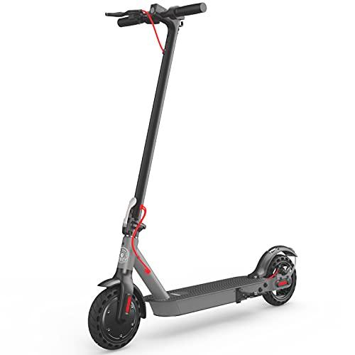 Hiboy S2 Scooter eléctrico, motor de 350 W, hasta 27 KM de largo alcance portátil plegable scooter eléctrico adulto con doble suspensión trasera y aplicación