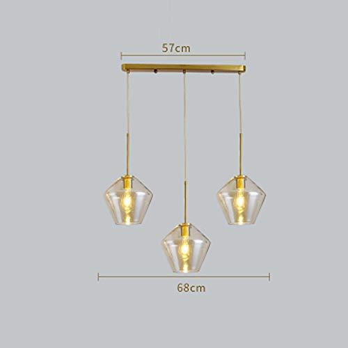 KFSG Luces colgantes nórdicas modernas de vidrio Accesorios Loft LED Lámpara colgante...