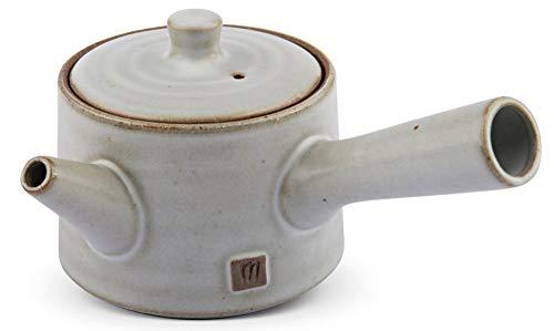 Maoci Teekanne Kyusu Elfenbeinweiß 250ml / Einhandkanne/Seitenhandkanne