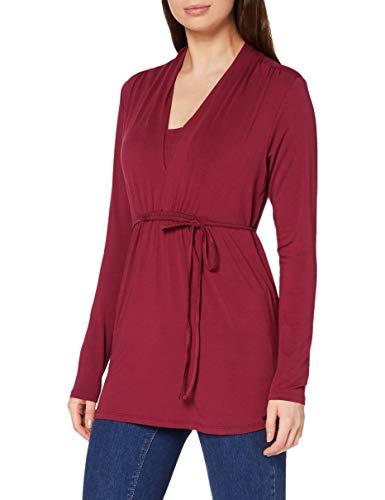 ESPRIT Maternity Damen Nursing ls T-Shirt, Vinyard Wine-530, XL