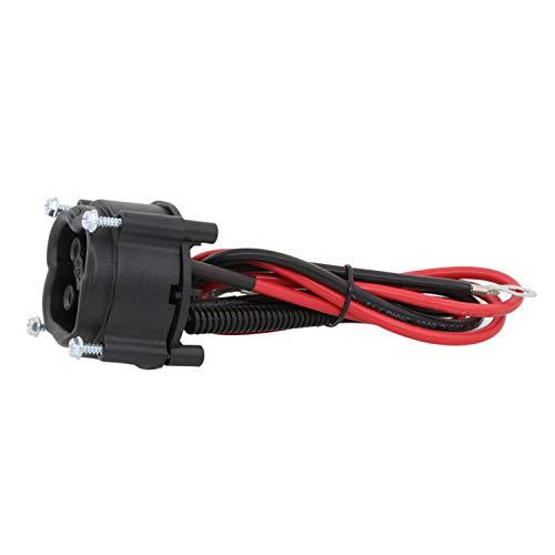 Disenparts JW2-H6181-01-00 48V MAC DC Cargador enchufe Powerwise Receptáculo JW2-H6181-02 para Yamaha Golf Cart 2008-2010 Electric G29 2008-2010