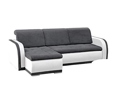 mb-moebel kleines Ecksofa Sofa Eckcouch Couch mit Schlaffunktion und Bettkasten L-Form Polstergarnitur große Farbauswahl - VERO I (Ecksofa Links,...