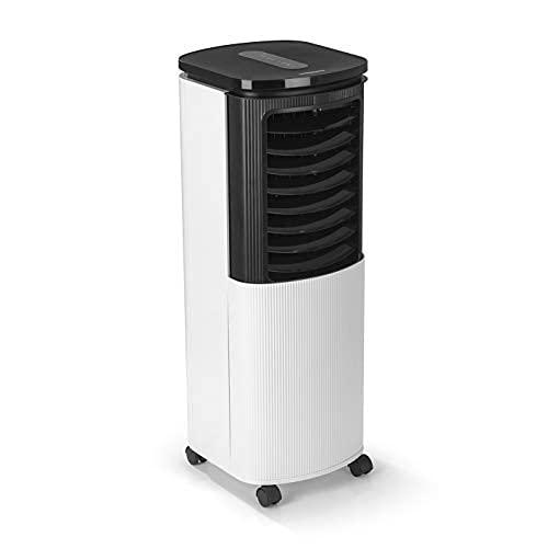 Hoberg Climatiseur 4 en 1   refroidisseur d'air - purificateur d'air - humidificateur d'air - ioniseur   refroidissement actif   mode veille, minuterie et fonction de pivotement