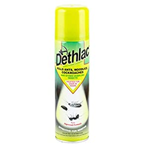 3 X Dethlac 250 ml Insecticidal Lacquer (Kills Insects Such as Ants, Woodlice and Cockroaches, Surface Spray for Homes and Gardens, Remains Effective for Months)