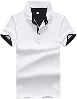 [Make 2 Be]メンズ ポロシャツ 半袖 レイヤード 重ね着 スタイル ボタンダウン M ~ 3XL バイカラー 速乾性 通気性 鹿の子 夏 スリムシルエット スポーツ アウトドア 普段着 部屋着 MF17