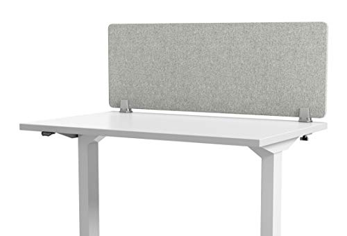 24 x 24 inch x2 3 Acoustic Partitions VIVO Gray Clamp-on Privacy Panels 60 x 24 inch PP-3-V108G Sound Absorbing Cubicle Desk Dividers x1
