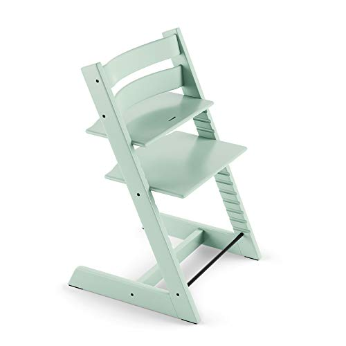 Tripp Trapp Chair from Stokke, Soft Mint - Adjustable, Convertible Chair for Toddlers, Children & Adults - Convenient, Comfortable & Ergonomic - Classic Design